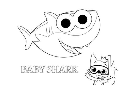 baby shark coloring page gambar mewarna baby shark gambar mewarna colouring picture