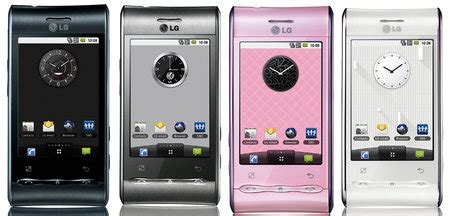 smartphone optimus da lg (lg gt540): galeria com miniaturas 3d