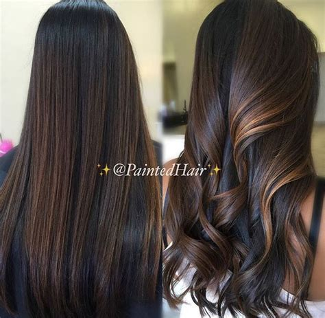 trendy to elegant black hair with caramel highlights trendy hair highlights chocolate brown with caramel