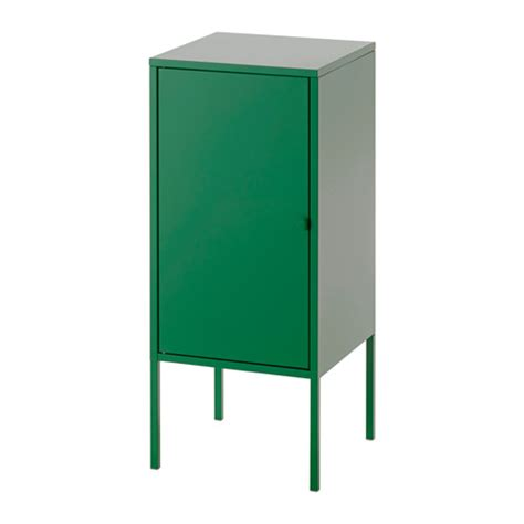 locker storage ikea lixhult cabinet metal green ikea