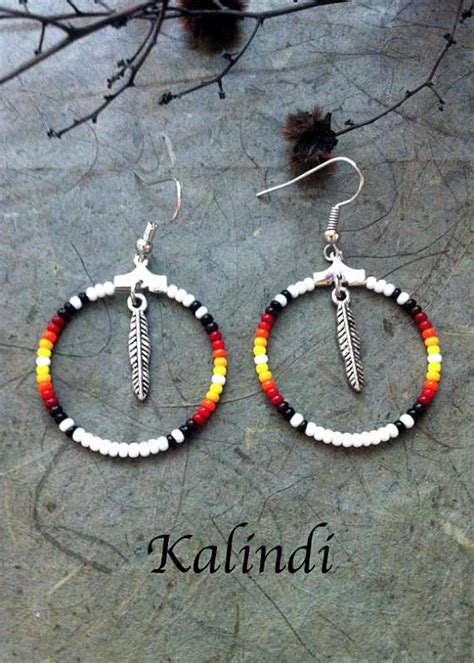 beadwork modern style beadwork modern earrings memory wire