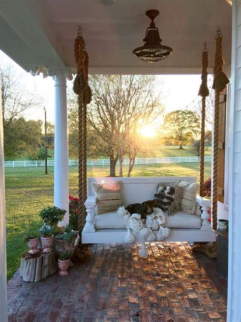 home design story romantic swing favorite vintage flea market finds for outdoor decor