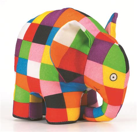 Elmer The Patchwork Elephant - coloring page for elmer the elephant