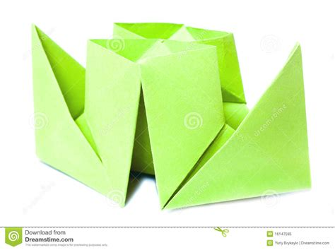 Origami Figure - origami figure of boat royalty free stock photo image