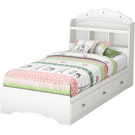 south shore tiara mates bed bookcase headboard