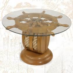 Ideas For Nautical Coffee Table Design Ships Wheel End Table Nautical Furniture Shipwheel Boat Gift With Rop