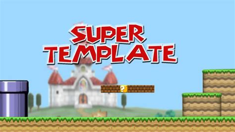 Mario After Effects Template Super Mario Bros Intro After Effects Cs6 Template Youtube