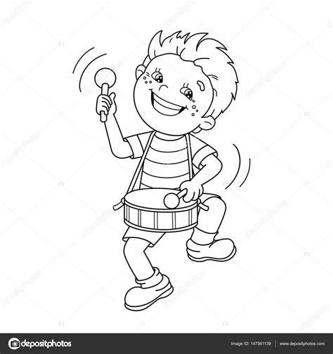 imagenes de niños tocando instrumentos musicales colorear el contorno de la p 225 gina de dibujos animados ni 241 o