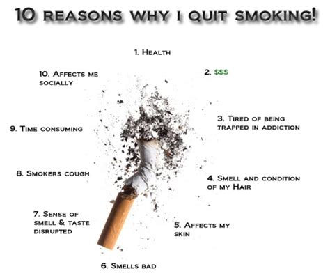 Smokin Makes Ben Quit by 10 Reasons Why I Quit Recovery I