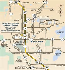 Boulder Colorado Map by Boulder Colorado Travel Pal International