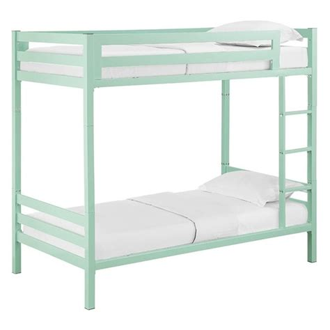 Walker Edison Bunk Bed Walker Edison Bunk Bed In Mint Btsqtotmt