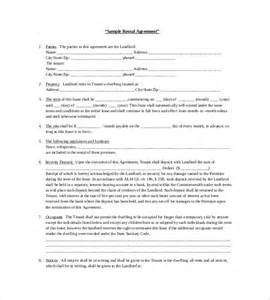 fee agreement template rental agreement template 24 free word excel pdf