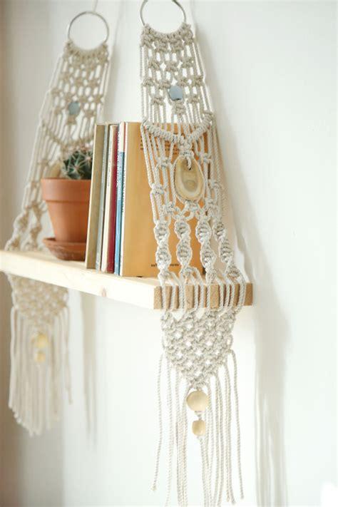 Modern Macrame - macrame wall hanging shelf shelf modern macrame by