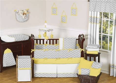 Gray And Yellow Chevron Zig Zag Baby Bedding 9pc Crib Yellow And Gray Chevron Crib Bedding