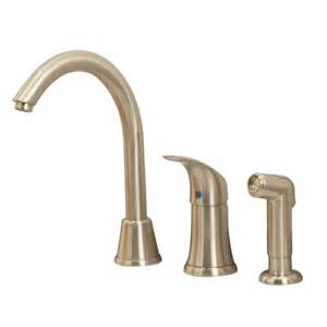 oakbrook faucet oak brook 174 single handle kitchen faucet with spray in