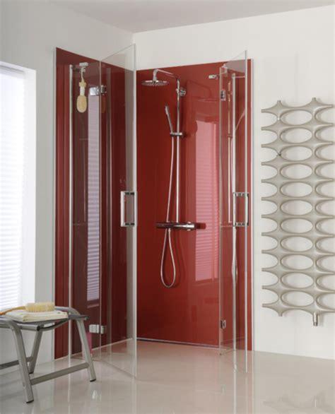 perspex bathroom splashbacks shower recess in monaco metallic photo reflections