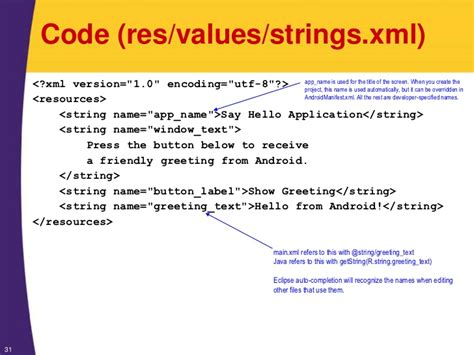 android layout xml to java code android tutorial android programming basics xml java
