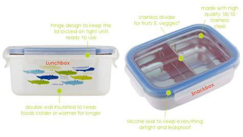 Innobaby Bento Box Stainless Orange Fish keepin smart insulated stainless lunchbox fish pink 15 oz innobaby