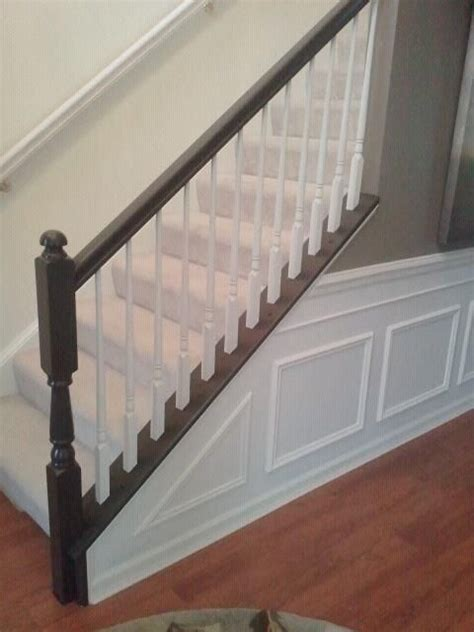 diy banister diy painting stair railing fixing color mistakes