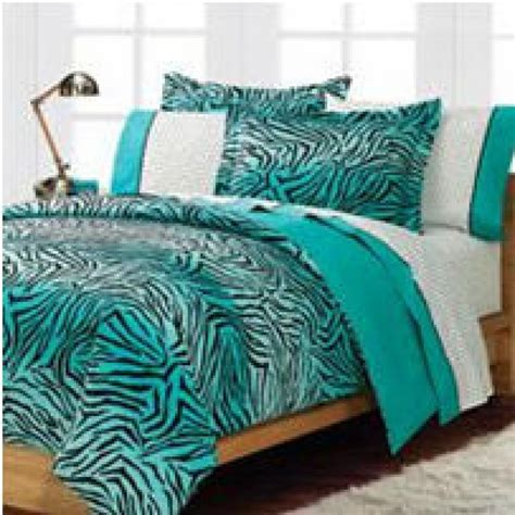Teal Turquoise Blue And White Zebra Print Bedroom Ideas Teal Bedding For