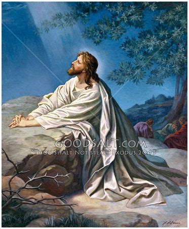 christ prays  gethsemane matt   mark