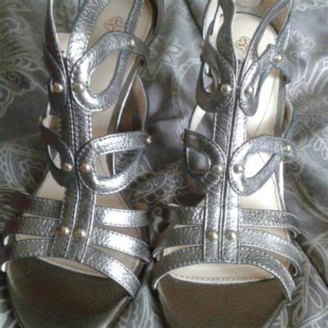 pewter colored heels 41 shoes pewter colored heels sz9 from montrice s