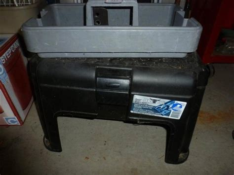 Step Stool Toolbox by 1 Dura Bull Plastic Step Stool Tool Box And 1