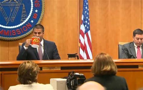 ajit pai mug ajit pai takes a sip from his reece s mug during the fcc