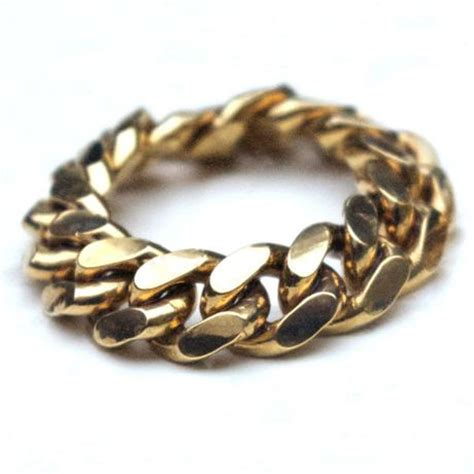 tessa metcalfe jewellery mens heavy gold chain ring in