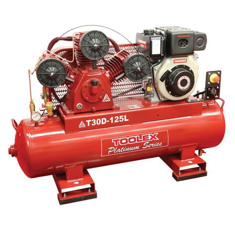 toolex air compressor t30des 125l 6 7 hp electrc start yanmar diesel ta 80 fusheng 125l tank