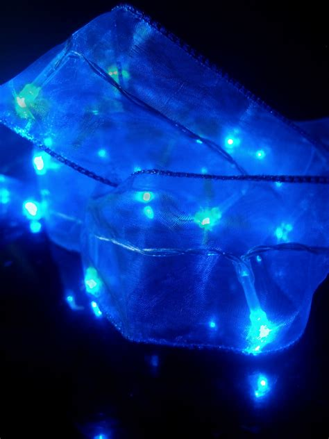 blue battery operated lights blue battery operated organza ribbon light