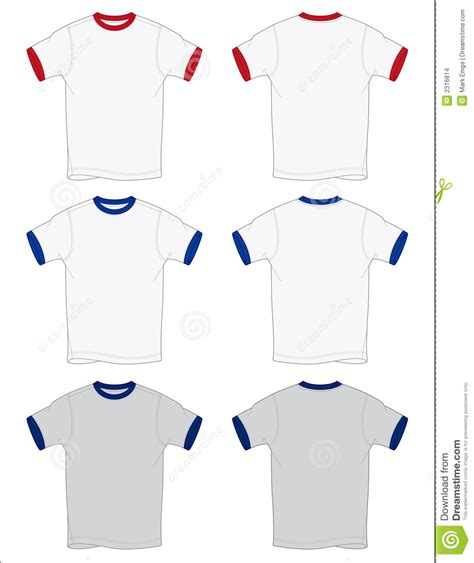 Ringer T Shirt Outlines Vector Stock Images Image 2316814 Ringer T Shirt Template