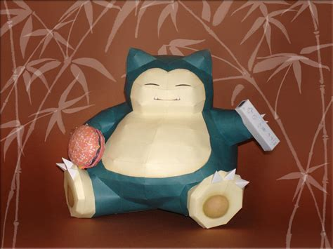 snorlax papercraft by skele on deviantart