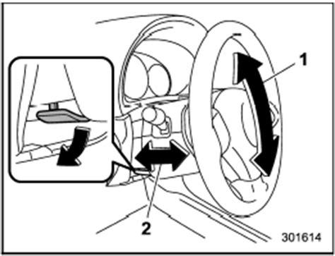 subaru forester: tilt/telescopic steering wheel keys and