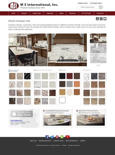 kitchen design planner tool m s international inc announces updates to its virtual