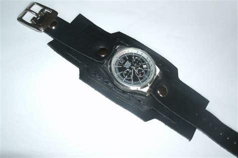 pulseras de cuero para relojes confeccionamos pulsera mu 241 equera de reloj en cuero negro