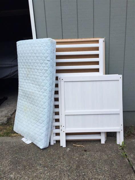 Sundvik Crib Toddler Bed Ikea Sundvik Convertible Crib Toddler Bed With Mattress Baby In Seattle Wa Offerup