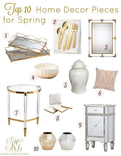 home decoration pieces top 10 home decor and fashion pieces for spring randi