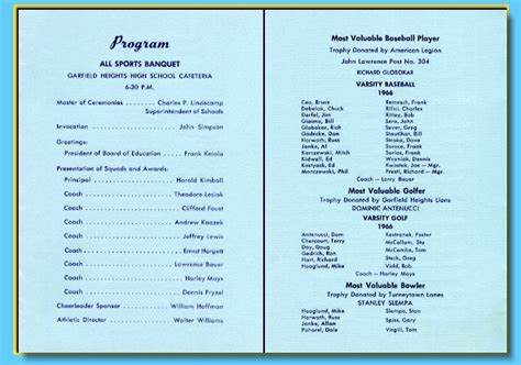athletic banquet program template sports program printing using page templates st