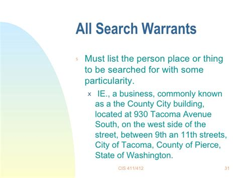 A Search Warrant Must State Search Warrants