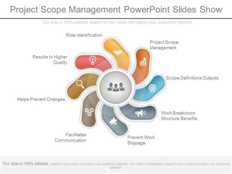 project management powerpoint templates free project scope management ppt enaction info