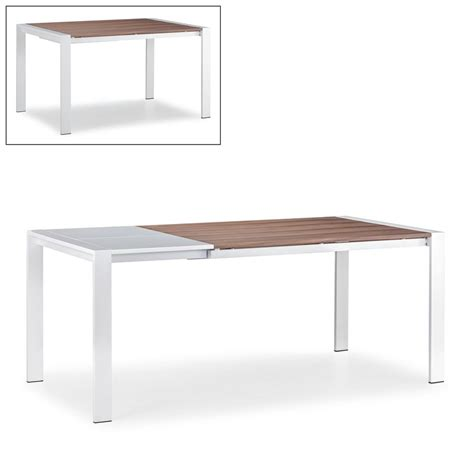 modern white dining table shop zuo modern oslo walnut white rectangular dining table at lowes