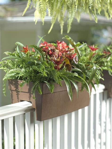 Deck Railing Flower Planters by 25 Best Ideas About Deck Railing Planters On