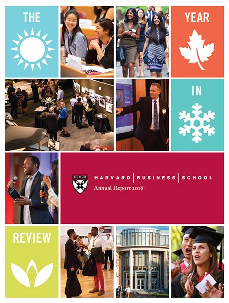 Harvard Mba Nonprofit by Annual Report Harvard Business School
