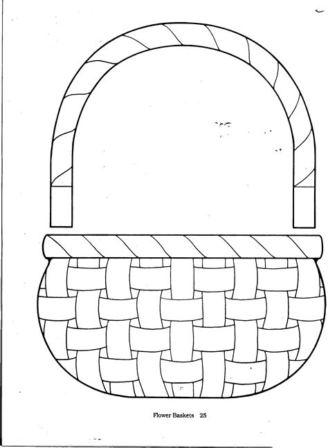 basket template free easter baskets templates coloring pages