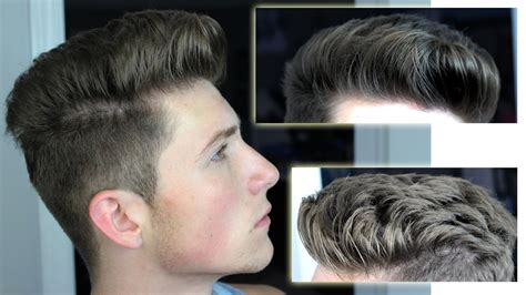 messy pompadour hairstyle men messy pompadour mens hair tutorial hairstyle youtube