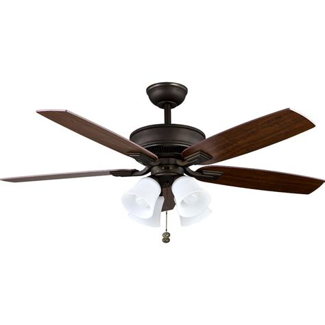 Rubbed Bronze Ceiling Fan home decorators collection petersford 52 in led