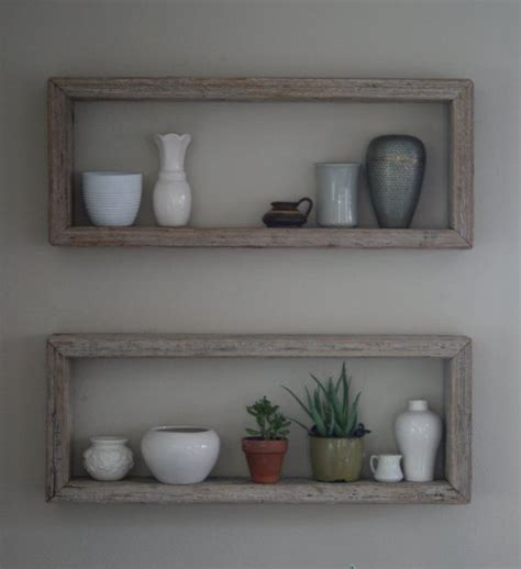 rustic wood box shelf shelfs pinterest box shelves
