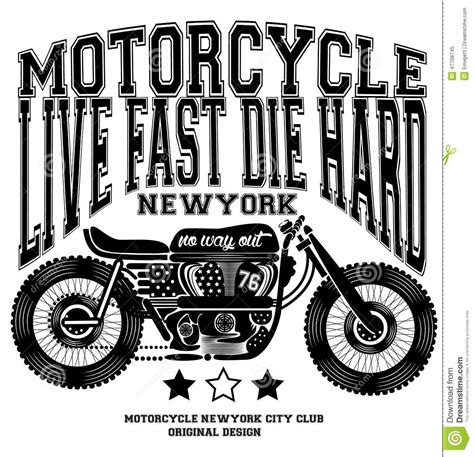 graphic design event new york motorcycle vintage new york t shirt graphic design stock