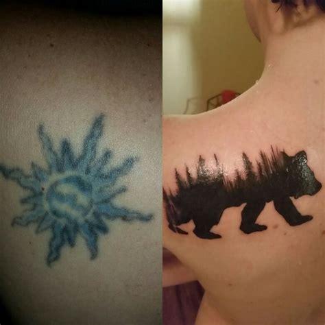 tattoo cover up montreal cover up tattoo black bear tattoo mountain tattoo